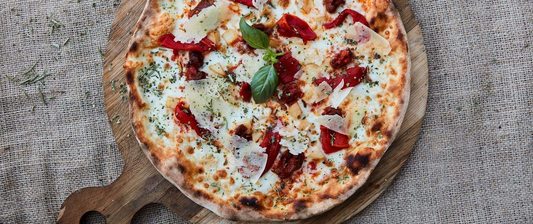Enjoy a wide pizza selection at Bussola